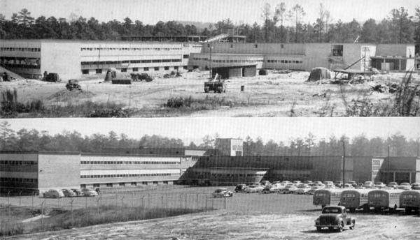 SVHS under construction in 1949 and later in 1954